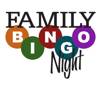 Family Bingo Night ClipArt.