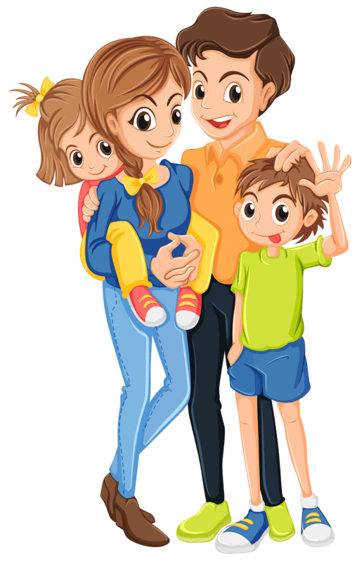 Family with 4 kids clipart 2 » Clipart Portal.