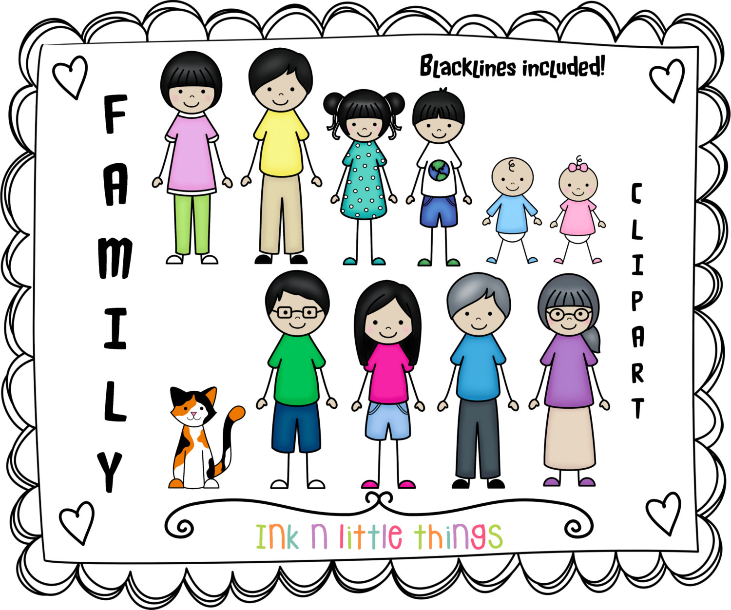 My Family Clipart.