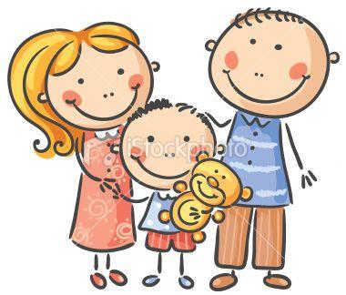 A happy family of three, no gradients..