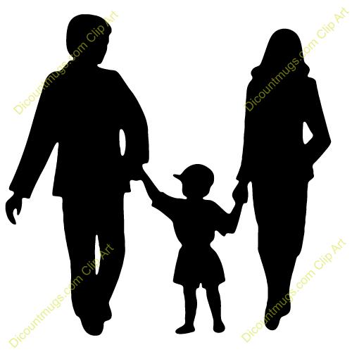 Family Of Three Clip Art..