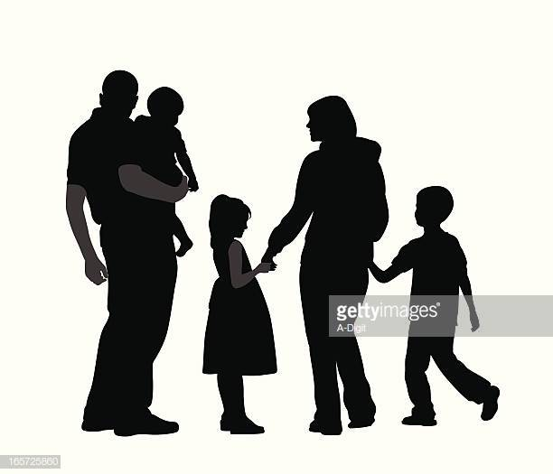 60 Top Family With Three Children Stock Illustrations, Clip art.