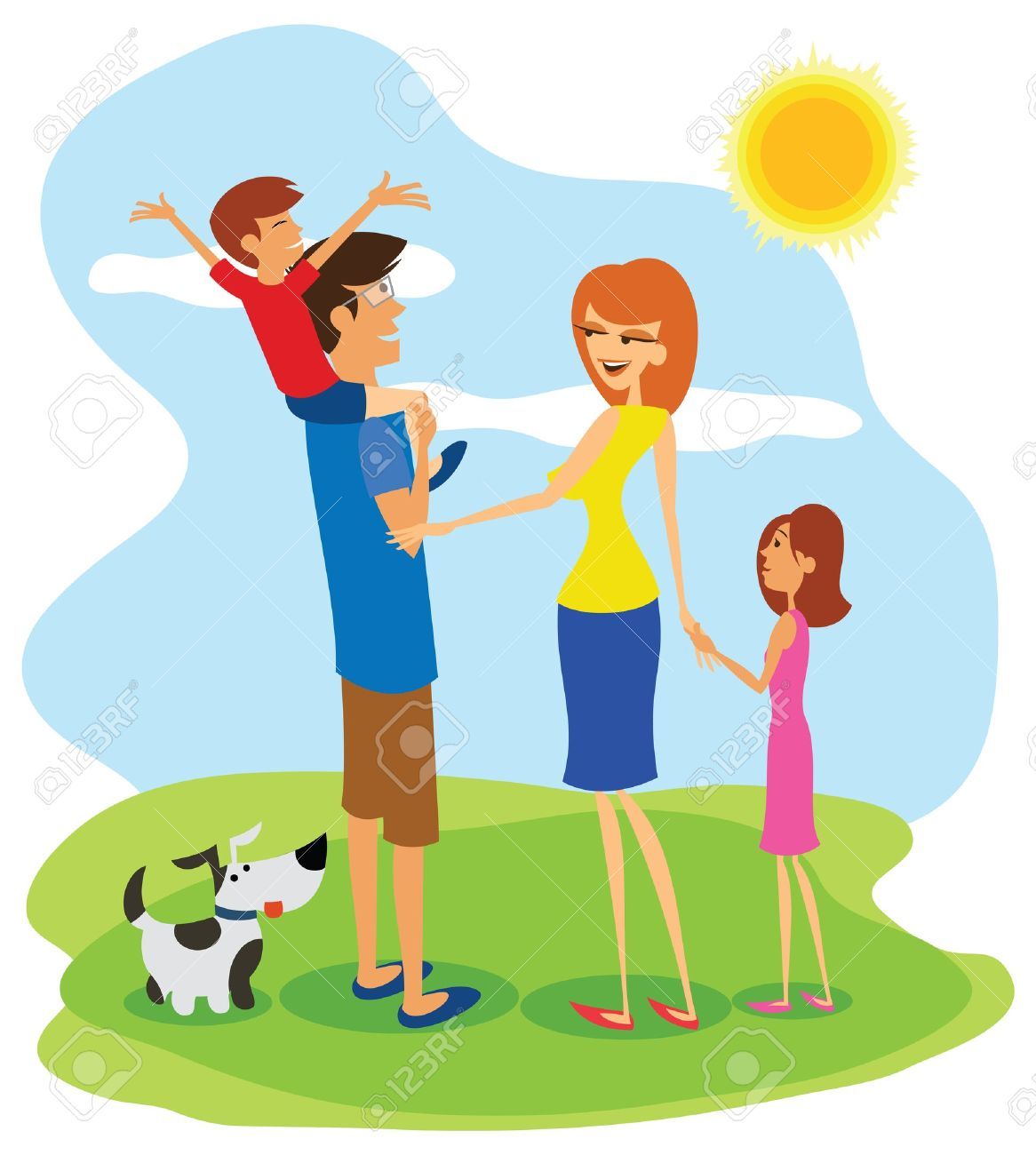 419 Family Outing Stock Illustrations, Cliparts And Royalty Free.