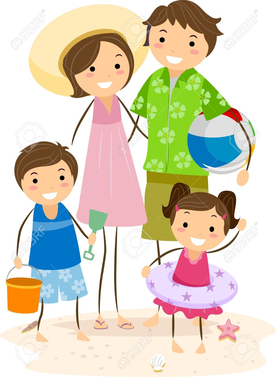 Family Outing Clipart