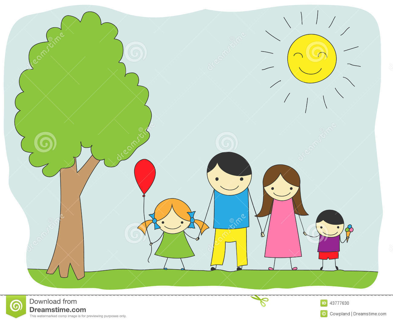 Family outing clipart.