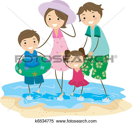Clipart of Family Outing k6534783.