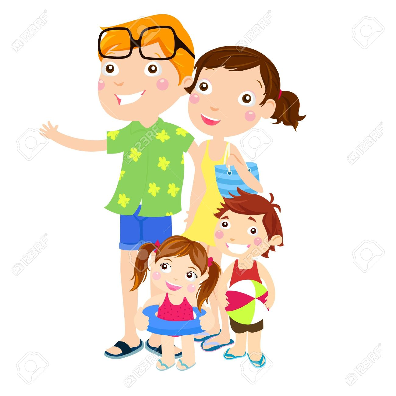 Family Outing At The Beach Royalty Free Cliparts, Vectors, And.