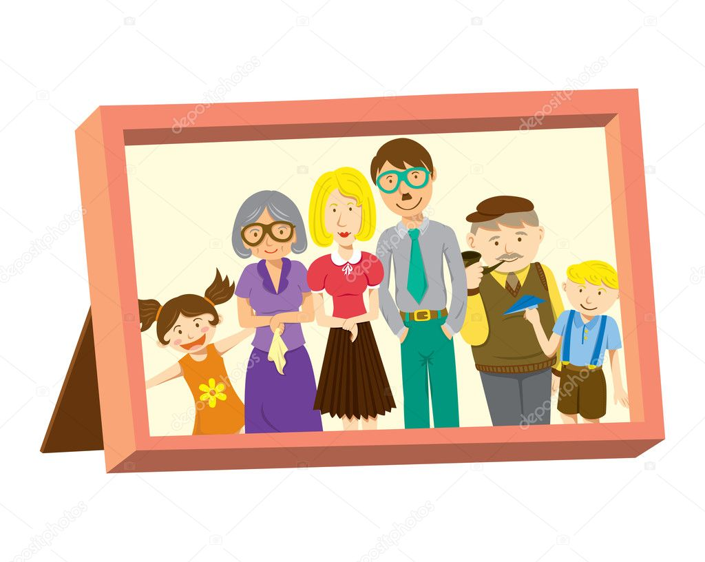 Clipart: family picture frame clip art.