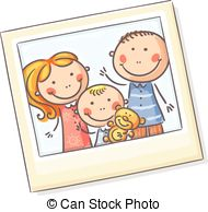 Family Picture Frame Clipart.