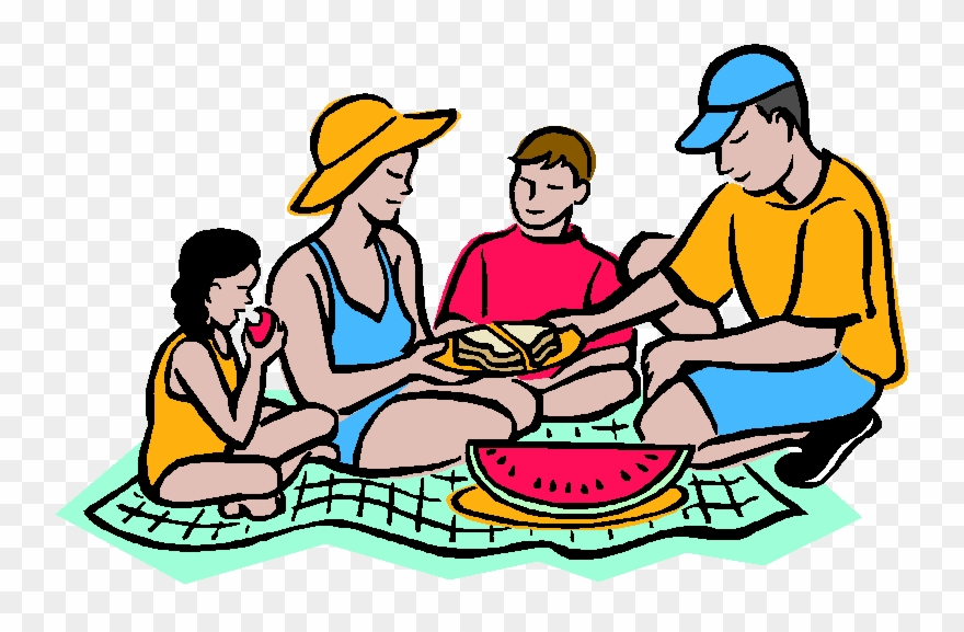 Vector Family Picnic Clipart.