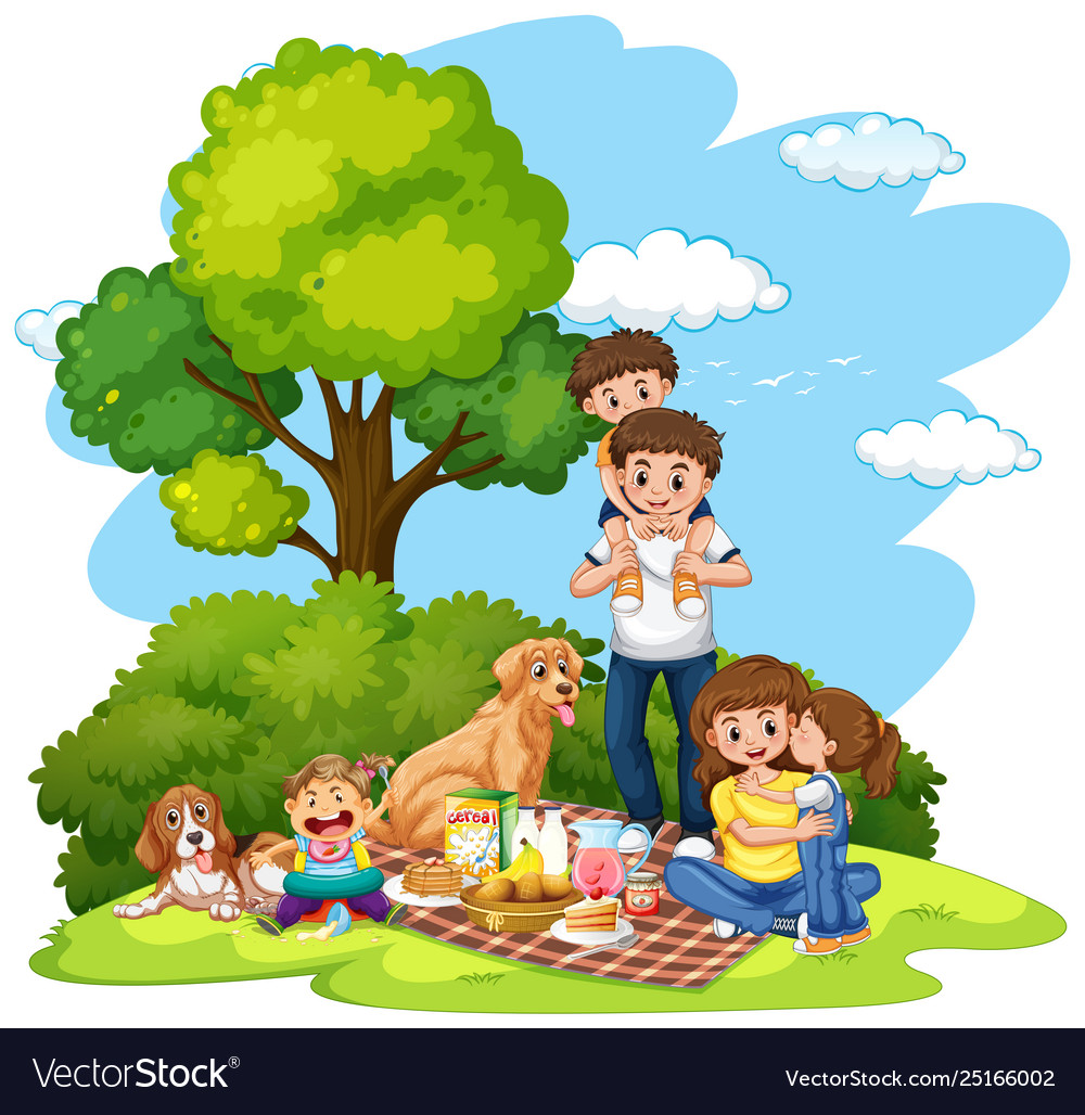 A family picnic at park.