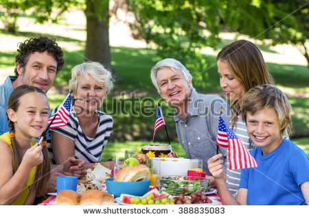 Family Picnic Table Stock Images, Royalty.