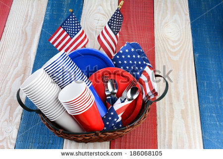 Memorial Day Picnic Stock Images, Royalty.
