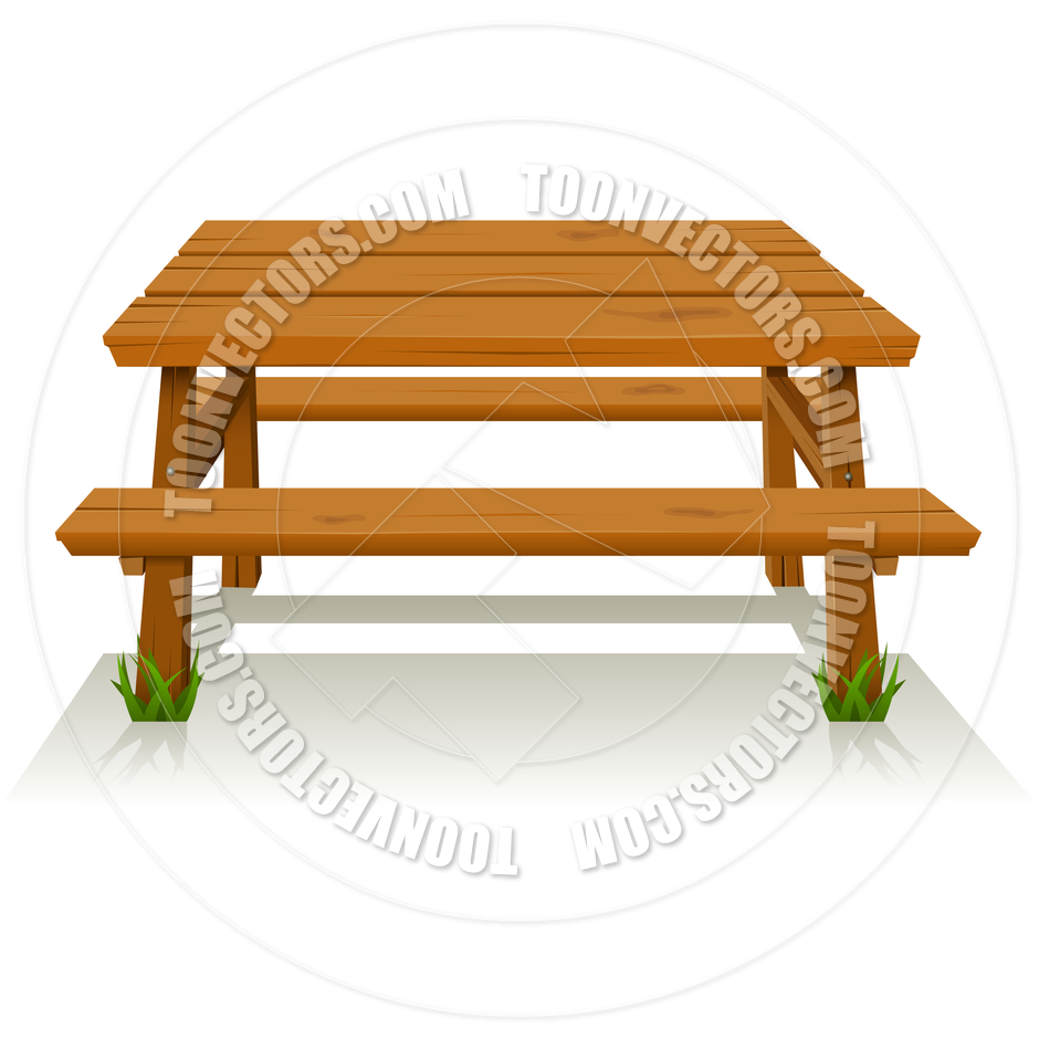Family Picnic Table Clipart.