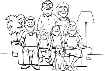Family Photo Clipart Black And White.