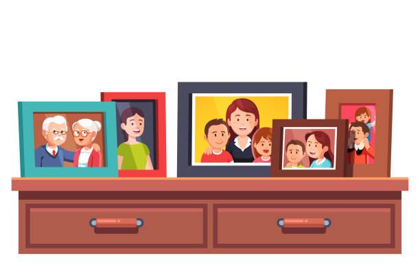 Best Family Portrait Illustrations, Royalty.