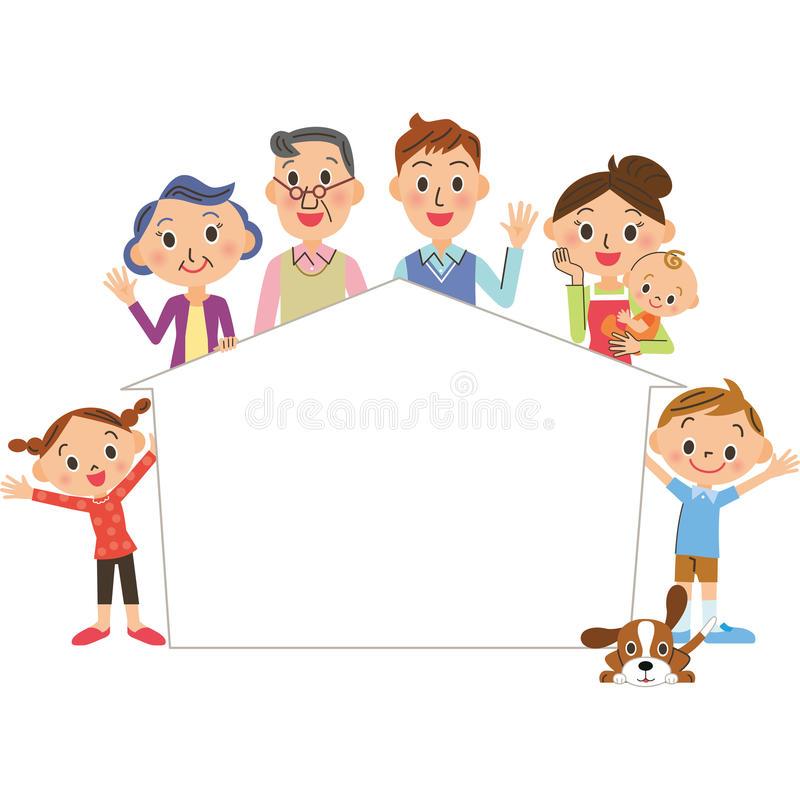 Frame Family Stock Illustrations.