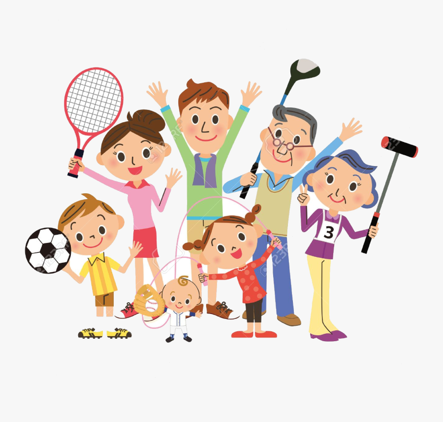 Sports Free Clipart Family Clip Art On Transparent.