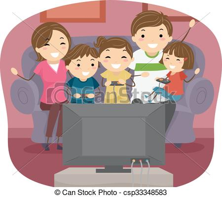 Stickman Family Play Video Games.