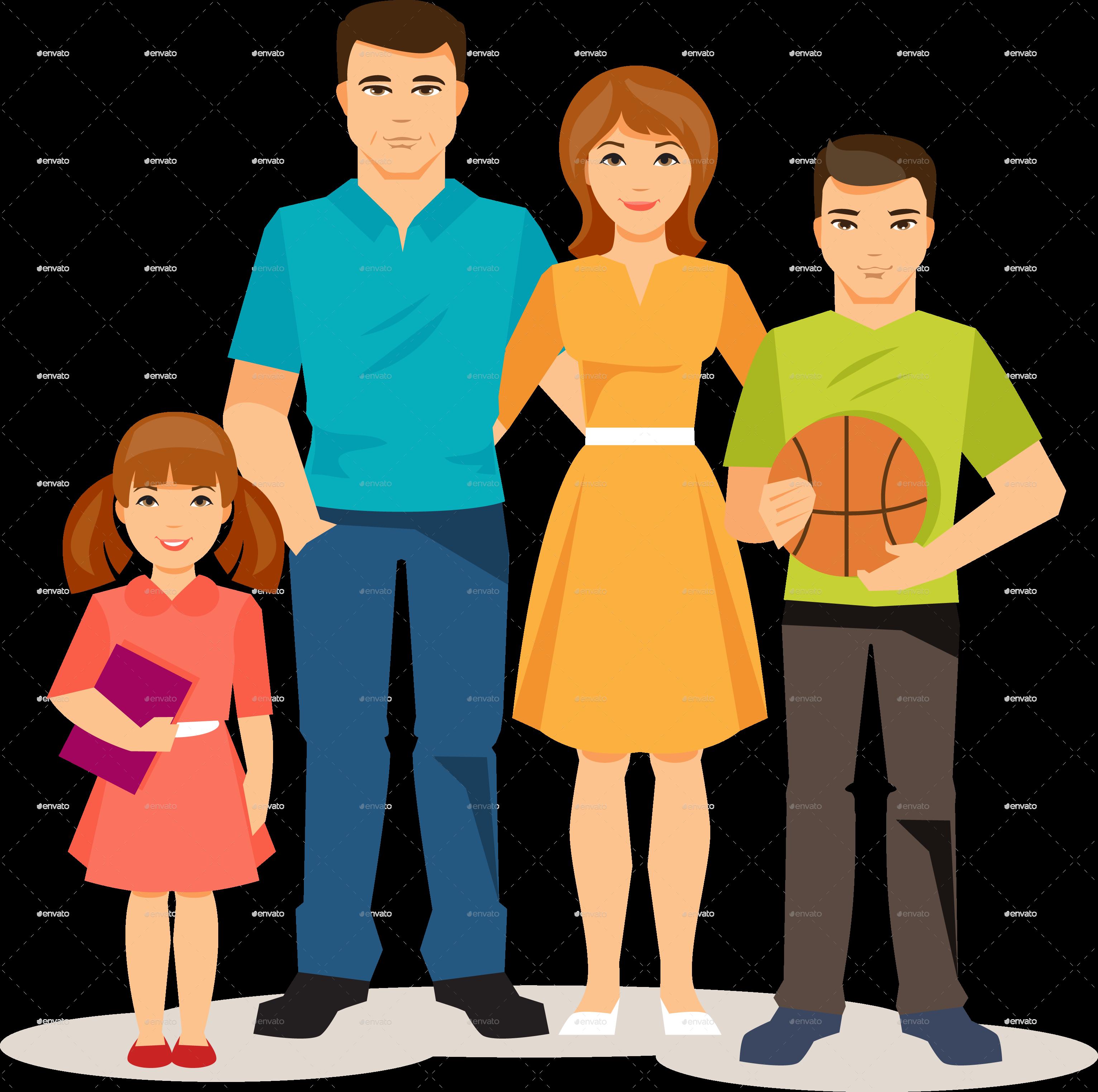 Cartoon Family Pic.