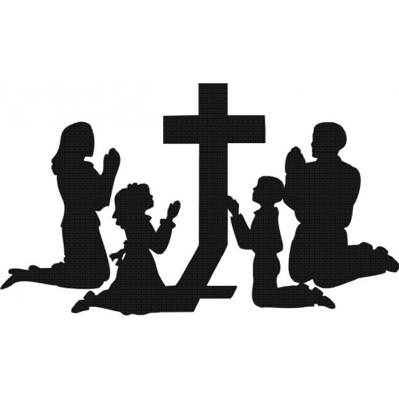Praying Family Clipart Black And White.