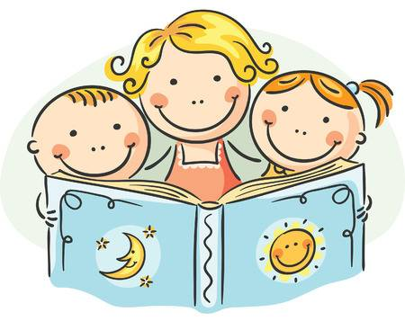 2,668 Family Reading Cliparts, Stock Vector And Royalty Free Family.
