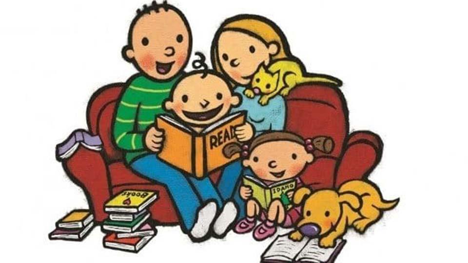 Storytime clipart literacy night, Storytime literacy night.