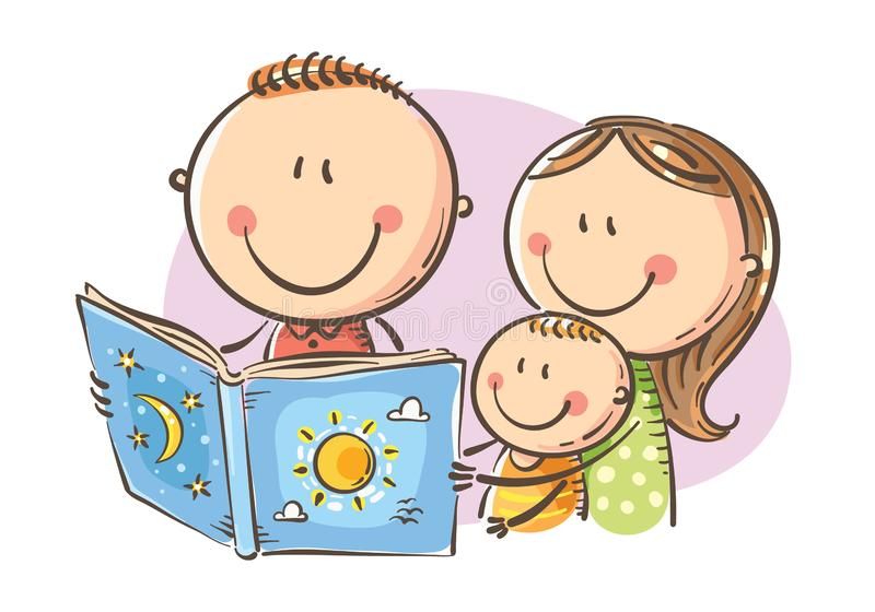 Reading Together Stock Illustrations.