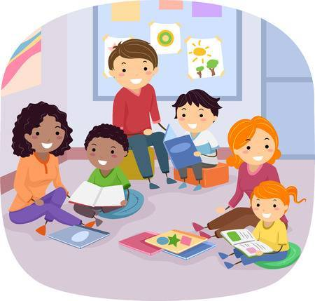 Family reading together clipart 4 » Clipart Portal.