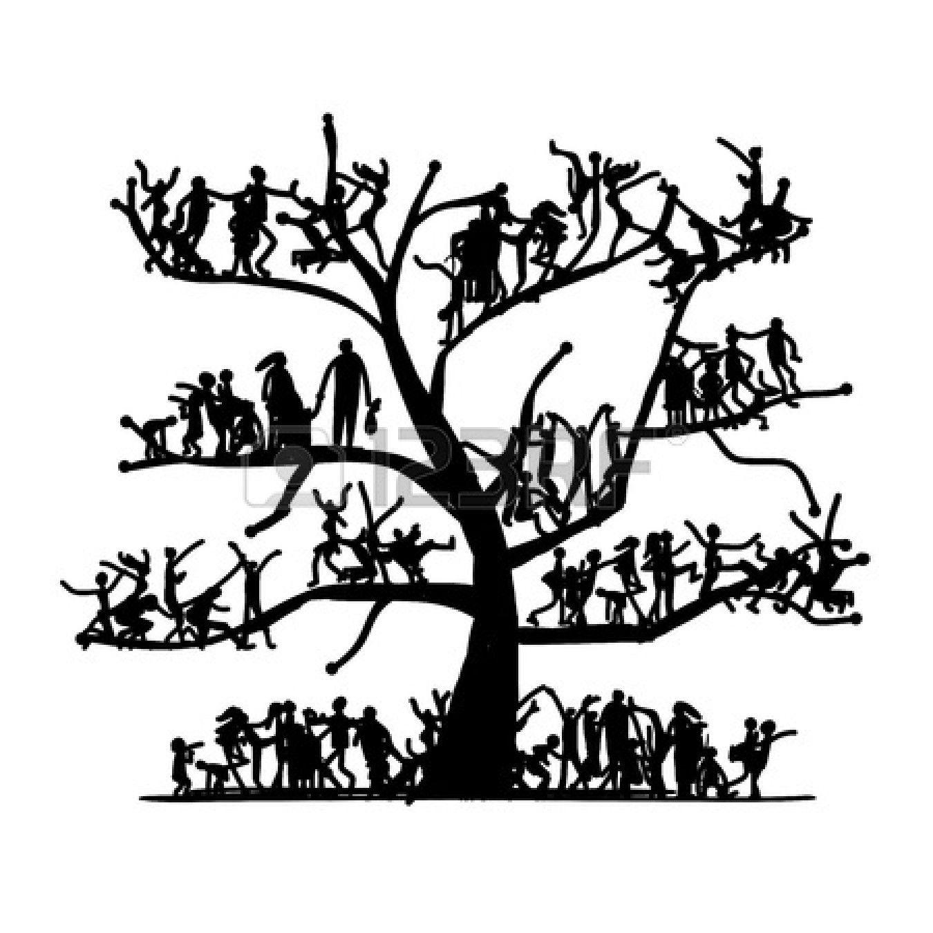 Family Tree Clip Art Black And.