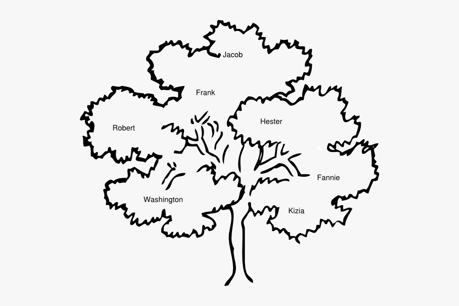 Black And White Cook Family Reunion Tree Clipart Cliparts.