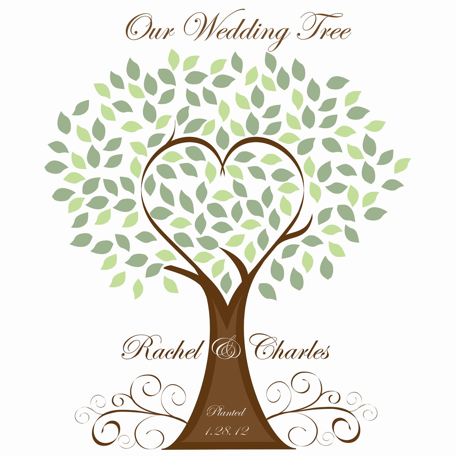 Family Reunion Tree With Roots Clipart.