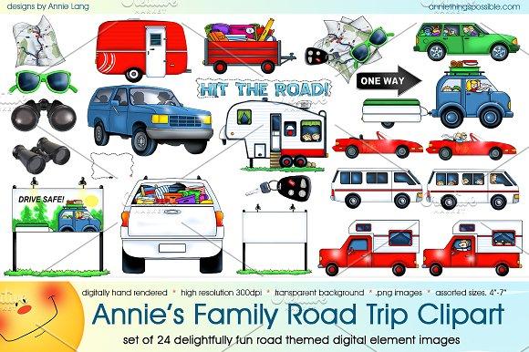 Annie's Family Road Trip Clipart.