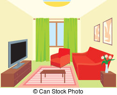 Clipart living room.
