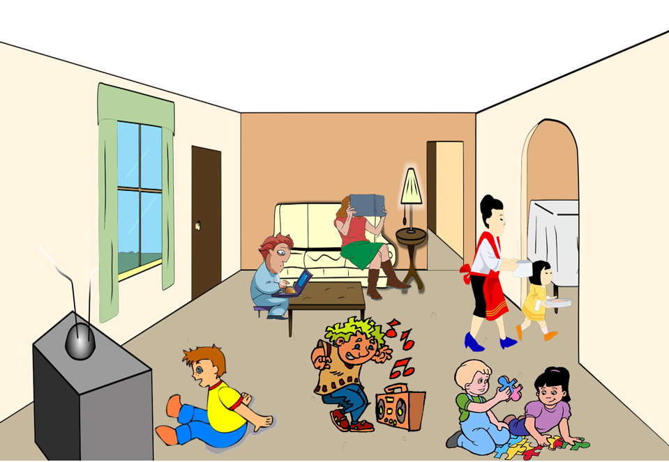 The living room clipart #4