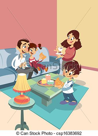 Family room Illustrations and Clipart. 4,647 Family room royalty.