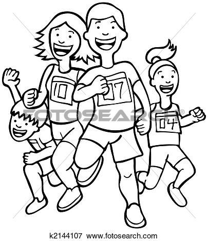 Clip Art of Family Run Art k2144109.