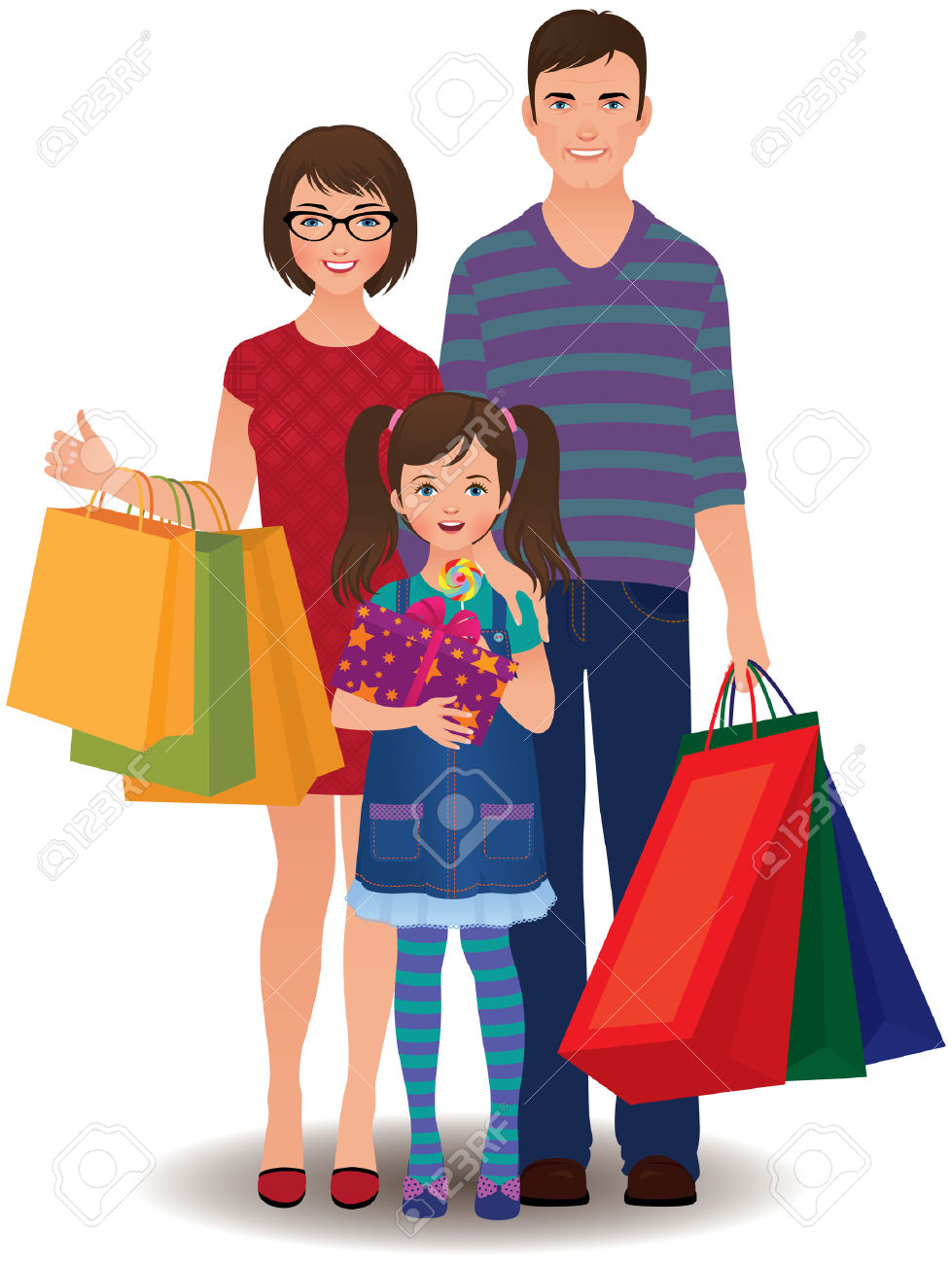 Family shopping clipart 10 » Clipart Station.