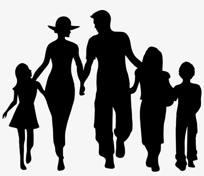 Family Silhouette Clip Art.