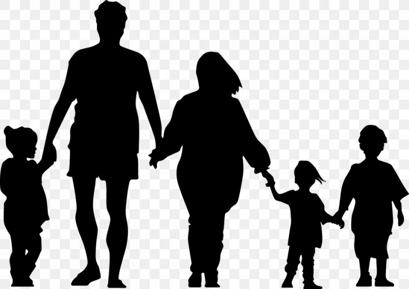 Holding Hands Family Silhouette Clip Art, PNG, 960x680px.