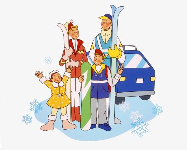 Family skiing clipart 5 » Clipart Portal.