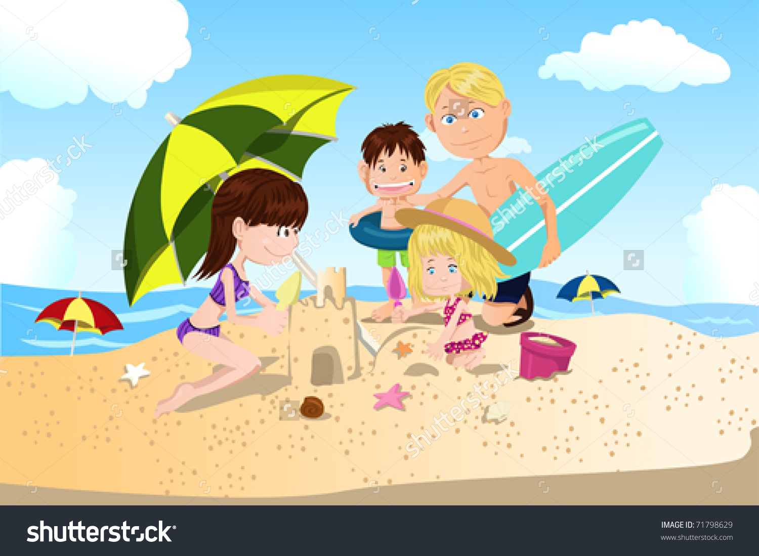 Family Spending Time Together Clipart.