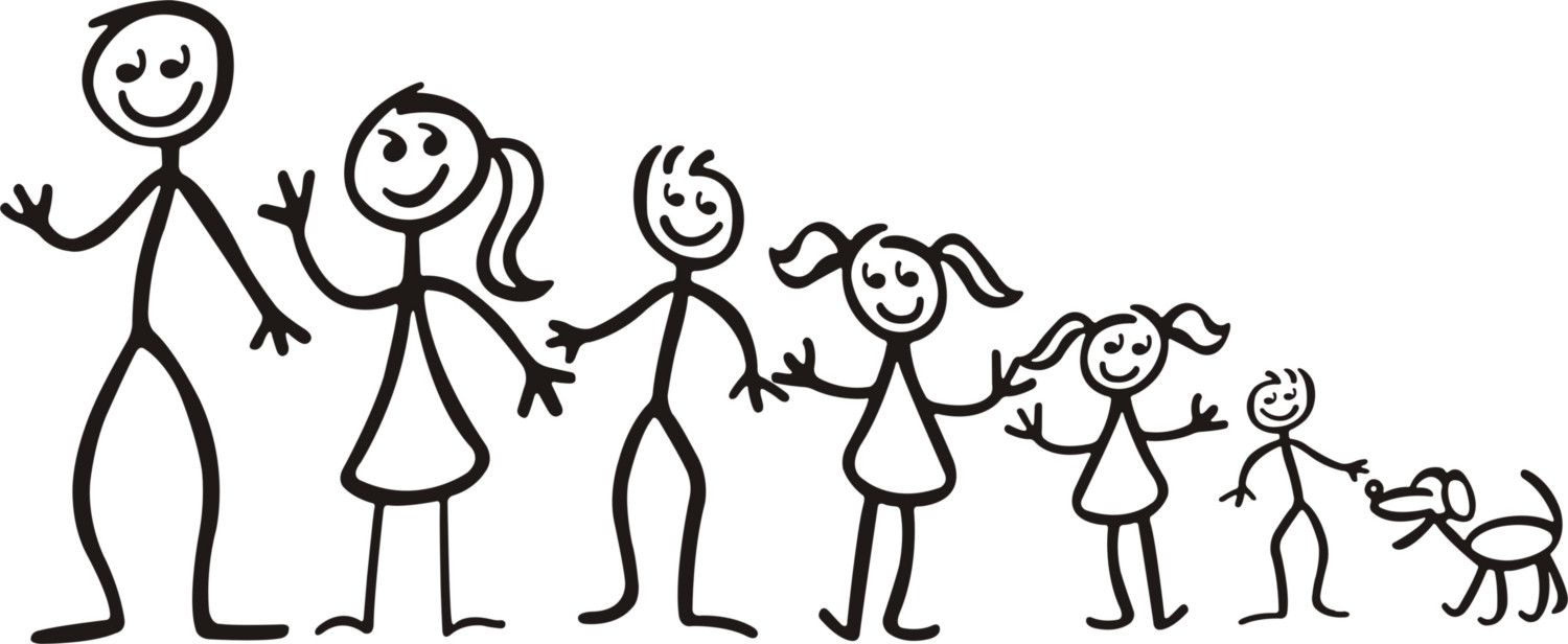 Family Stick Figures.