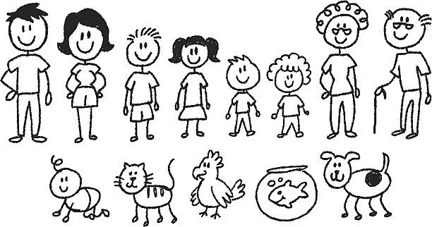 Best Stick Figure Family Illustrations, Royalty.