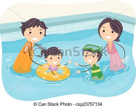 Stickman Family Swimming Pool.