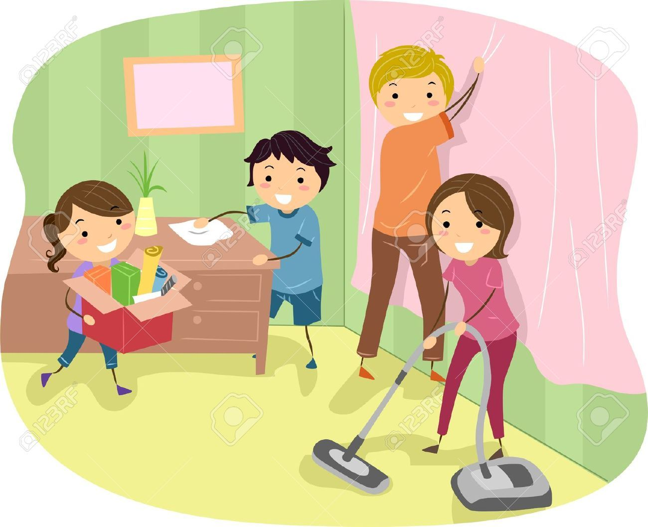 Family cleaning together clipart 4 » Clipart Portal.