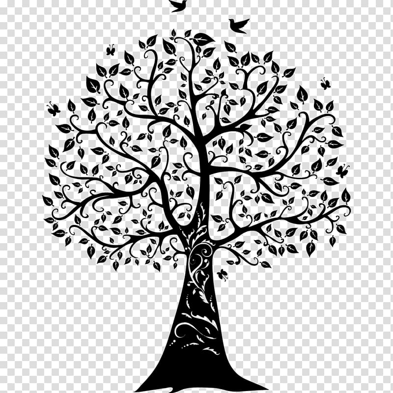 Tree art, Paper Wall decal Tree of life, family tree.