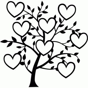 Black And White Family Tree Clipart.