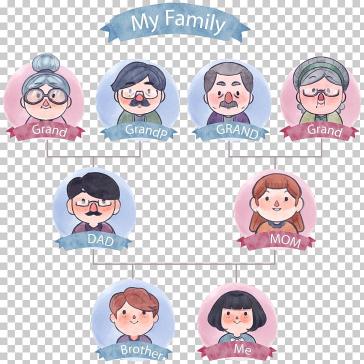 Family tree Icon, tree of watercolor tree, My Family.