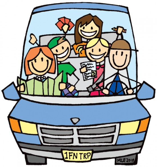 Family Trip Clipart.